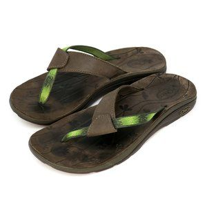 Chaco Switch Ecotread Field Green Thong Sandals